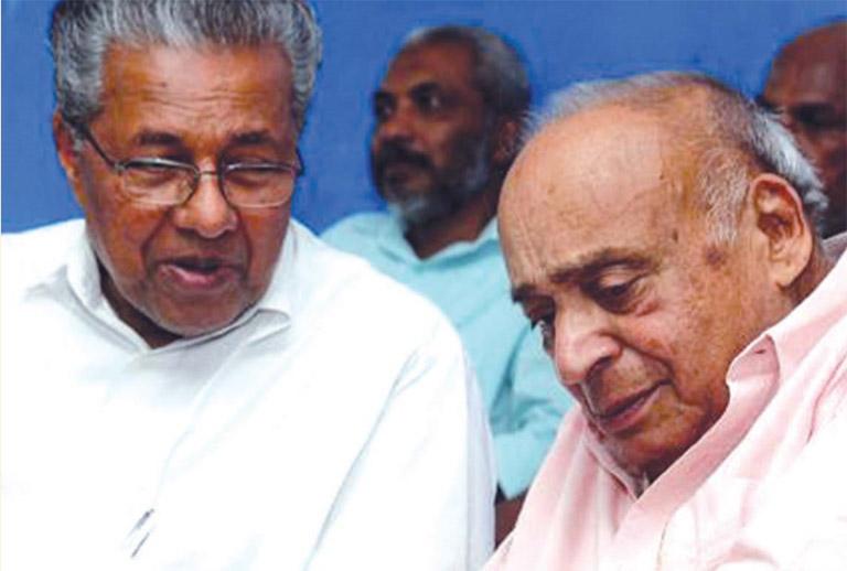 പിണറായി വിജയനും എം പി വീരേന്ദ്രകുമാറും