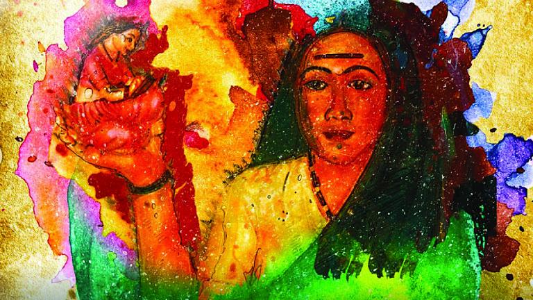 പ്രശസ്ത ചിത്രകാരി മാളവിക ആഷര് വരച്ച സാവിത്രി ഫുലെ ചിത്ര പരമ്പരയില് നിന്ന്